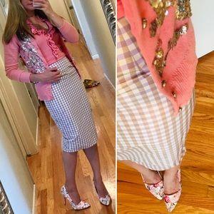 ASOS Skirts - 💜 ASOS purple plaid wiggle skirt XXS